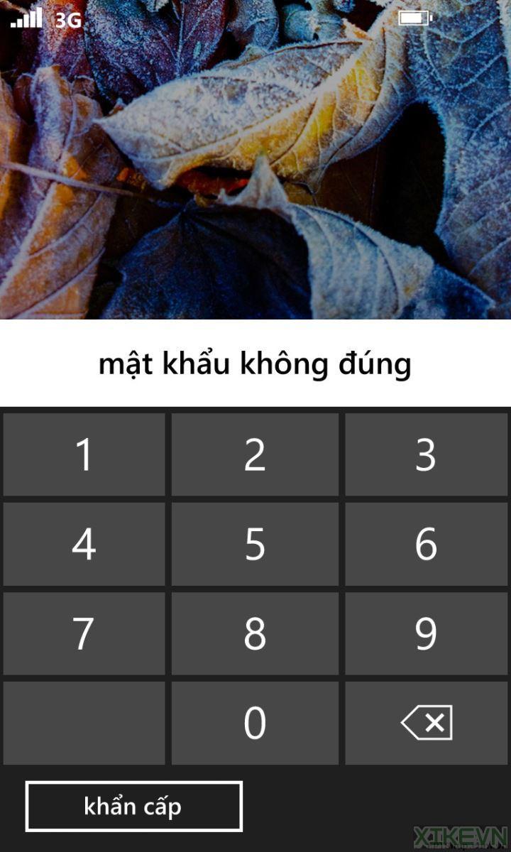 Cách phá mật khẩu khóa màn hình khi bị quên hoặc mở quá nhiều lần trên điện thoại Windows Phone